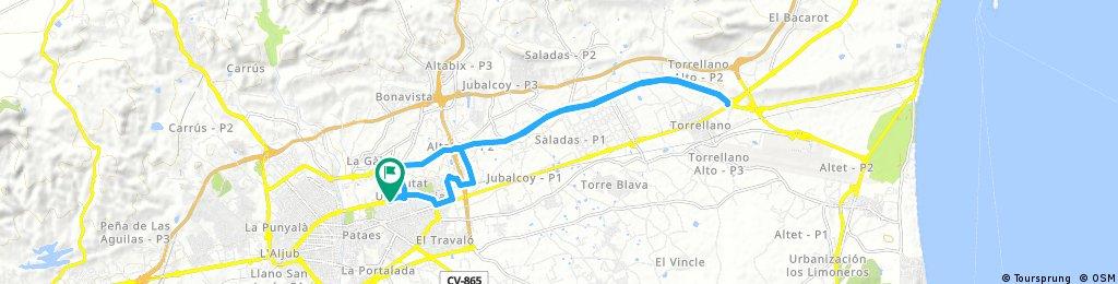 Elche/Elx Torrellano Vía Parque