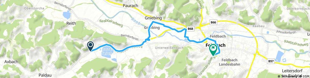 Schnelle Radrunde von Paldau nach Feldbach