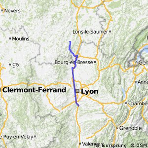 Cycling routes and bike maps in and around Vienne Bikemap Your