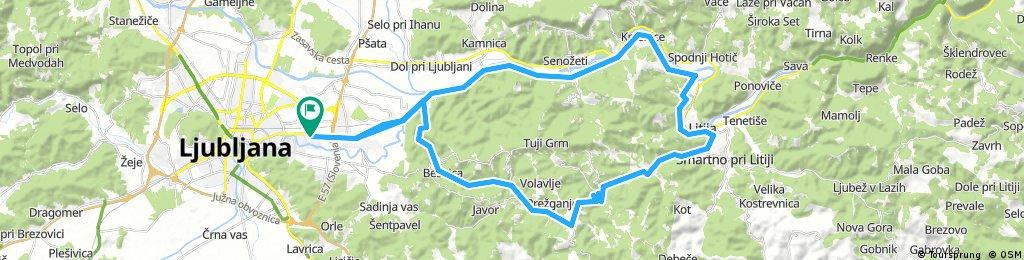Lj - Trebeljevo - Litija - Jevnica