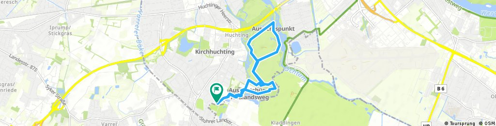Schnelle Radrunde durch den Park links der Weser