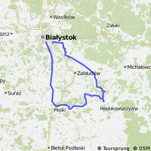 Cycling routes and bike maps in and around Biaystok Bikemap