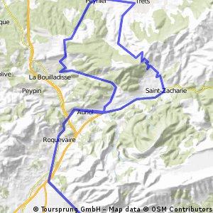 Vallée de l' Huveaune et le Régagnas