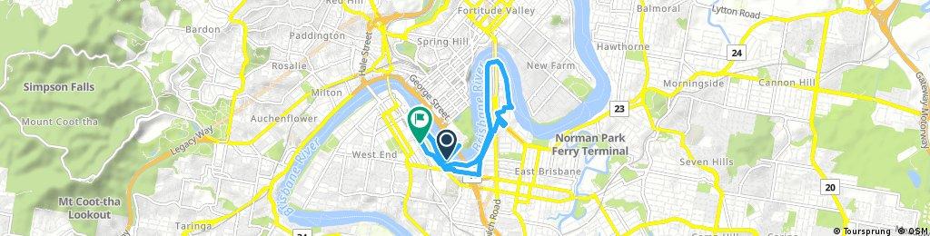 bike tour through Brisbane
