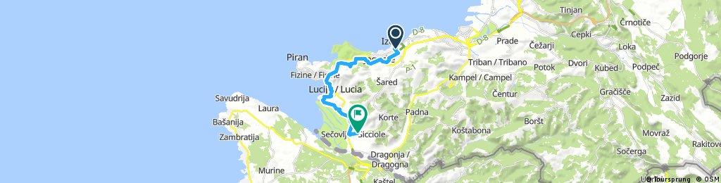 bike tour through Piran / Pirano