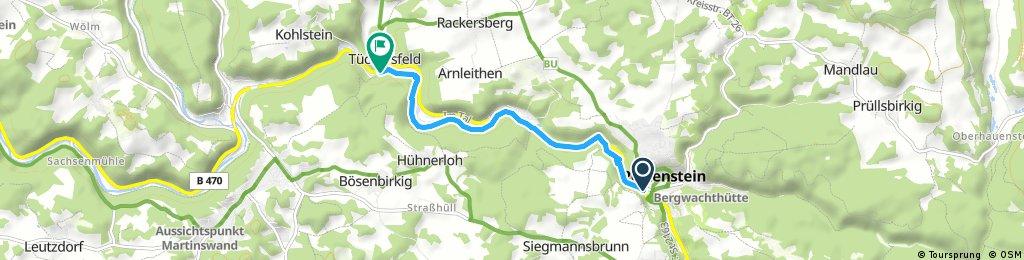 Pottenstein nach Tüchersfeld