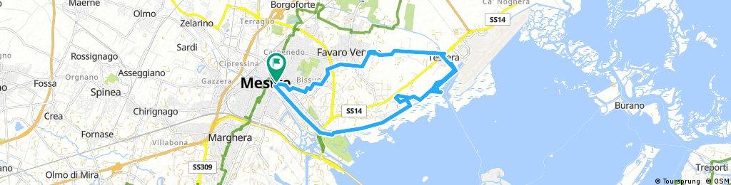 bike tour Mestre , Favaro e Tessera
