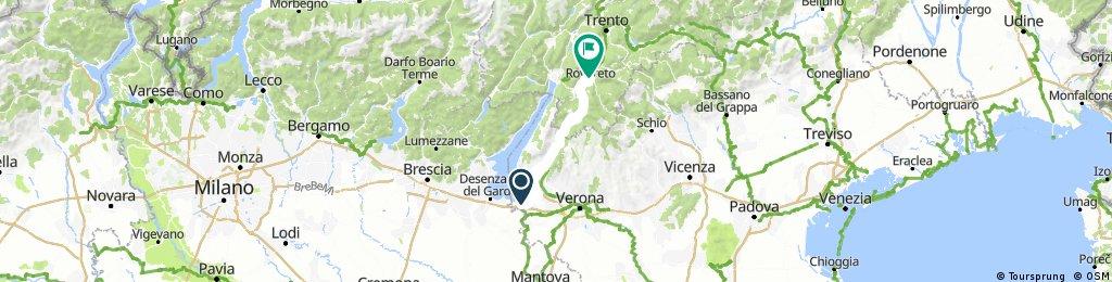 Peschiera del Garda-Rovereto (PisteCiclabili.it)