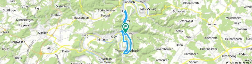 Von Enkirch über Traben Trabach- Mount Royal- Kövenig- Reil wieder zurück