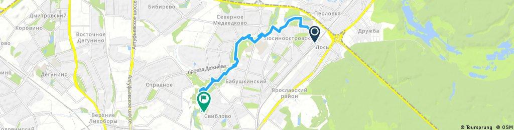 ride through Sviblovo District