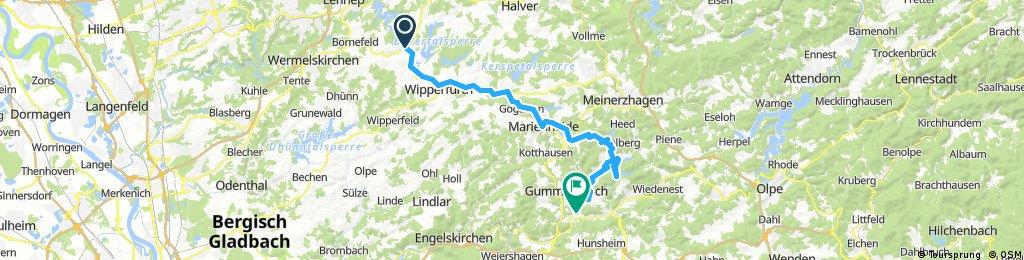 Hückeswagen nach Gummersbach