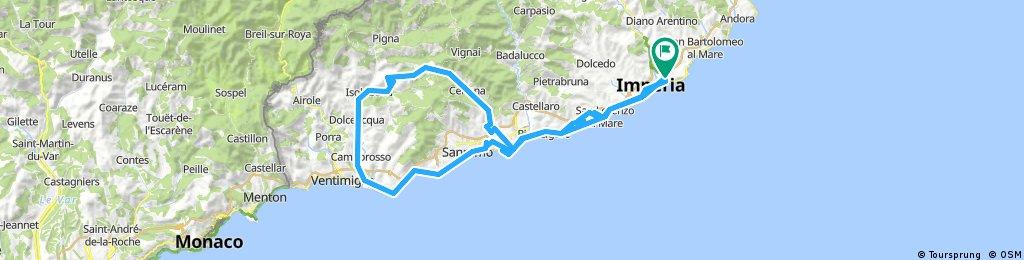 Imperia/San Remo mit Berg/Cipressa/Poggio