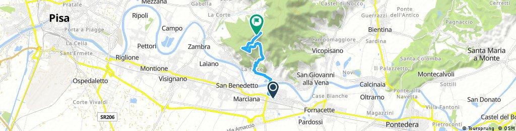 Cascina - Rocca della Verruca (Via Noce)