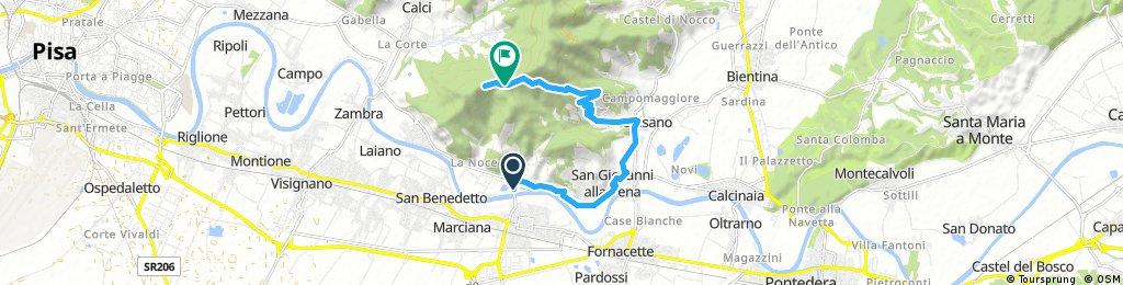 Lugnano di Vicopisano - Forte Verruca (Via di Panieretta)
