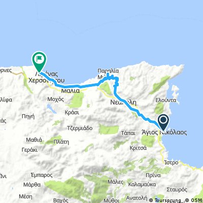 Άγιος Νικόλαος - Χερσόνησος (μέσω Μίλατου)