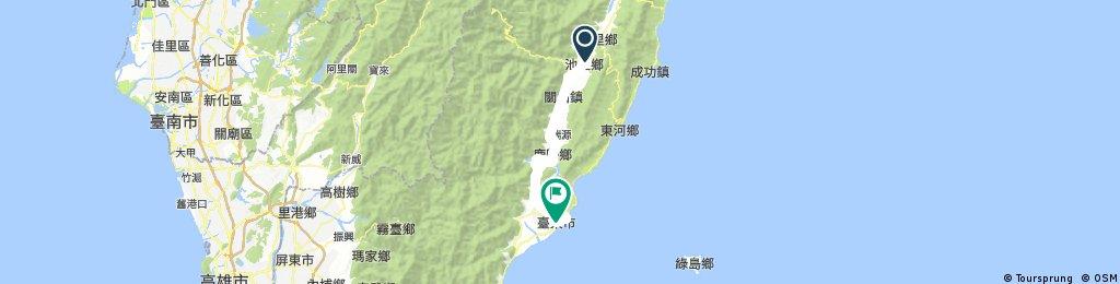 Biking Taiwan 2017 Hualien Taitung Trip Plan A Day 4