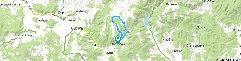 Trail cez roklinu Zimného potoka