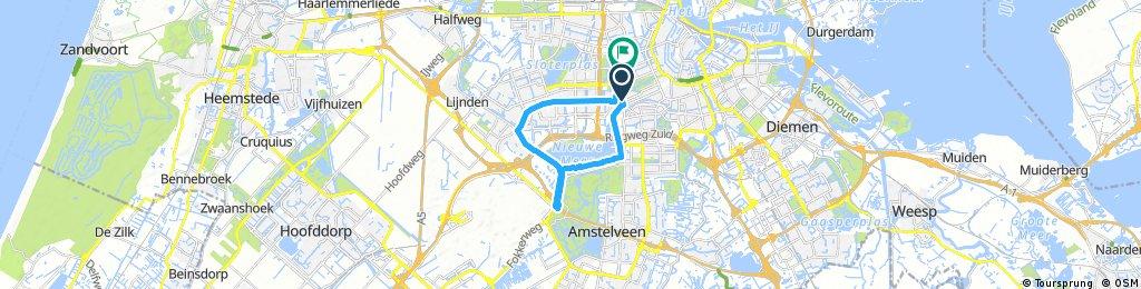 ride through Amsterdam