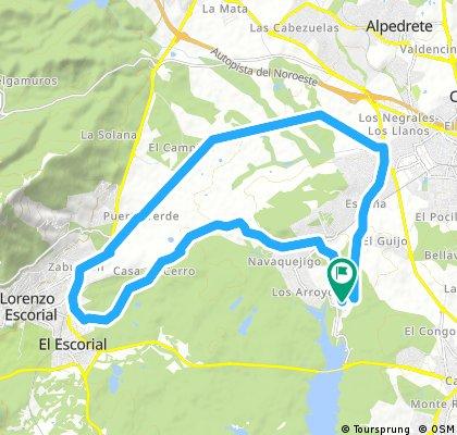 ride through El Escorial