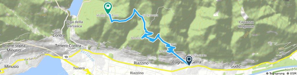 Kurze Ausfahrt von Cugnasco nach Gordola