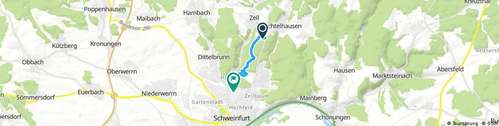 Schnelle Ausfahrt durch Schweinfurt