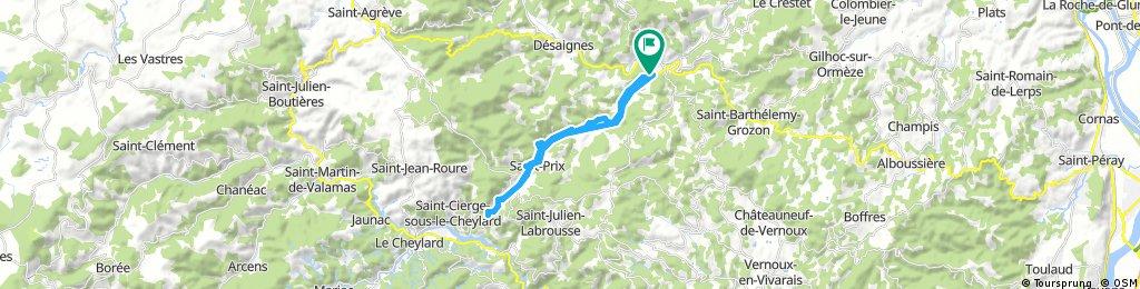 bike tour through Lamastre