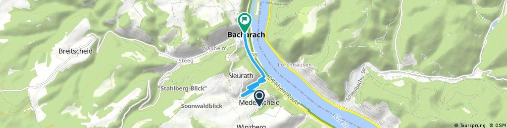 Kurze Radrunde durch Bacharach