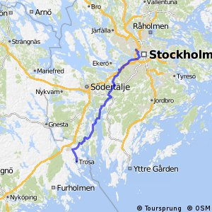 Cycling Routes And Bike Maps In And Around Solna Bikemap Your - Jarfalla sweden map