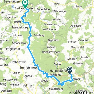 Tag 2 Weserberge Challenge von Laubach nach Bad Karlshafen