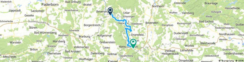 Tag 1 Weserberge Challenge von Bad Karlshafen nach Laubach