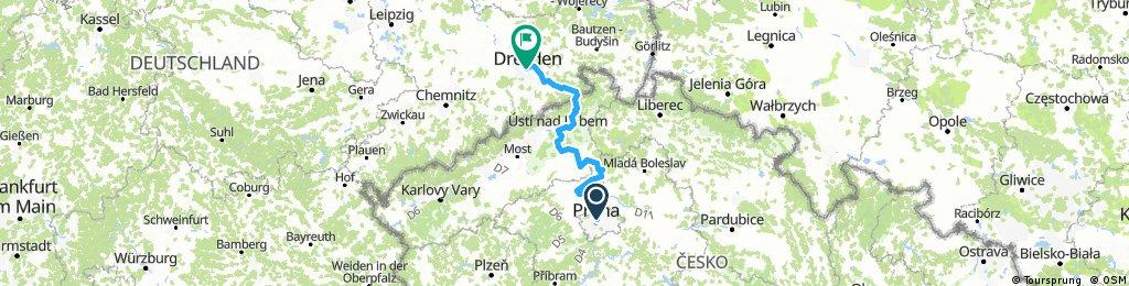 Praha - Dresden (Labska Cyklostezka / Elbe Radweg)