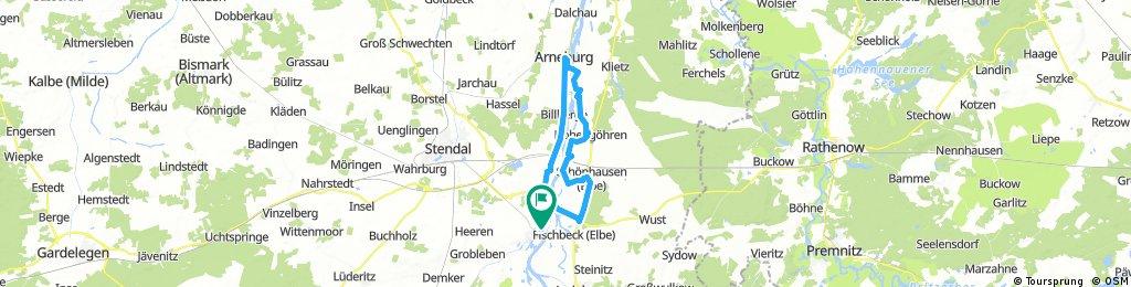 Tangermünde - Arneburg und zurück (Elberadweg beidseitig 2x Fähre)