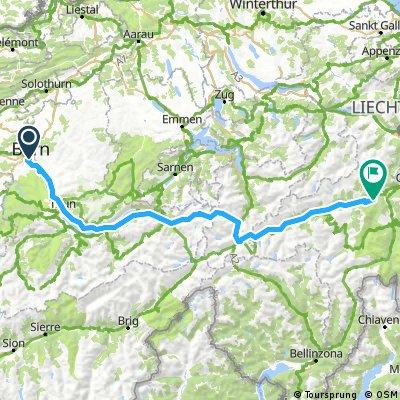 Bern - Versam - Bikemap