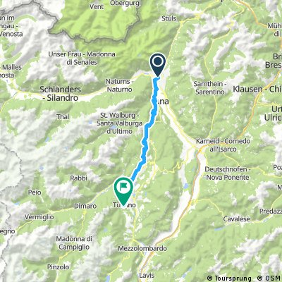 Transalp - Etappe 4 - Meran nach Tuenno