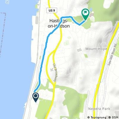 Brief bike tour through Hastings-on-Hudson
