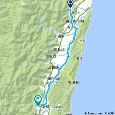 Cycling Day 2: Liyu Lake Campsite - Ruisui Hot Springs