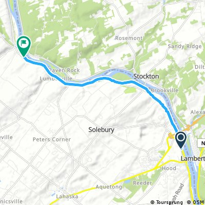 bike tour through Lower Saucon Township