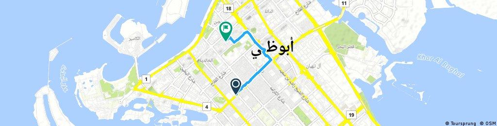 Quick ride through Abu Dhabi.alkrama