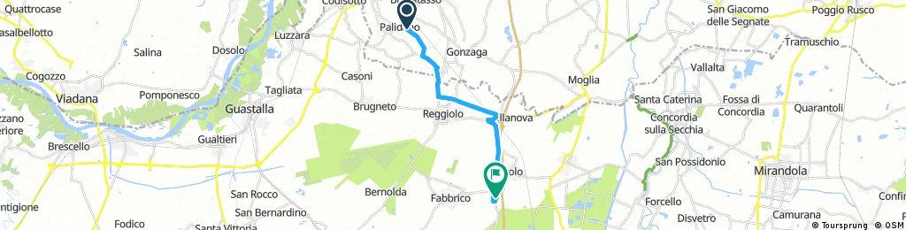 bike tour through Fabbrico
