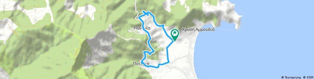 Brief ride through Thassos