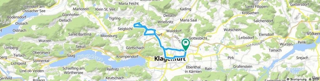 Klagenfurt Welzenegg - Ponfeld und retour