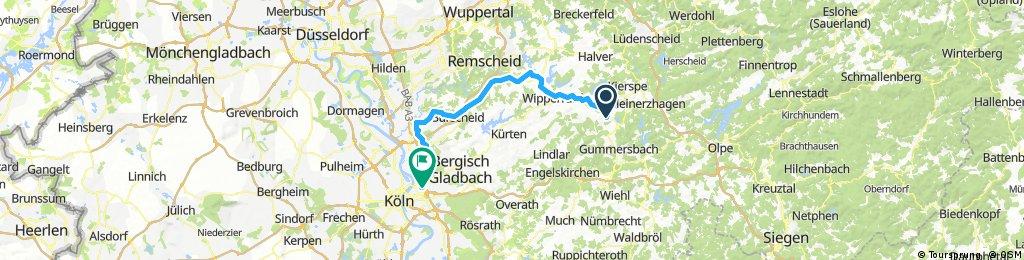 Marienheide nach Köln
