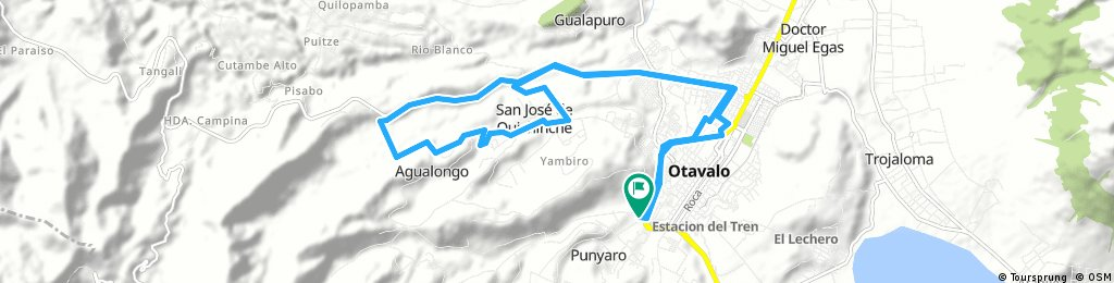 bike tour through Otavalo