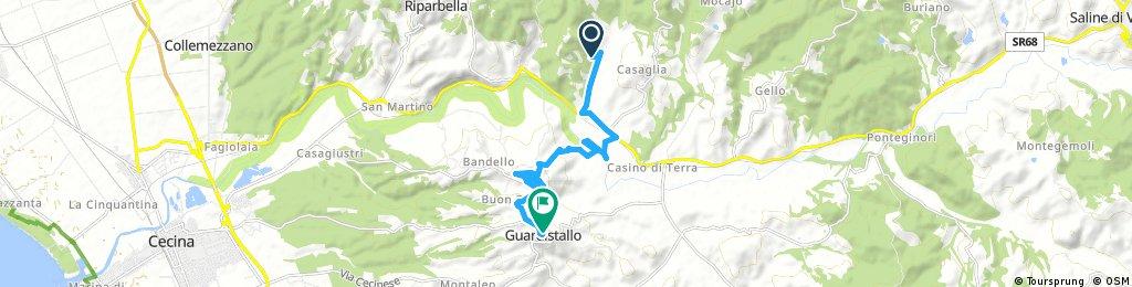 Ausfahrt von Riparbella nach Guardistallo