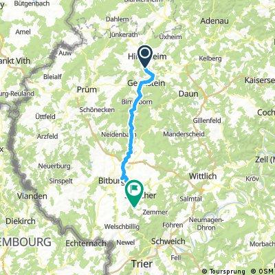 Ahr - Kyll - Mosel - Rhein 3. Tag Auw an der Kyll