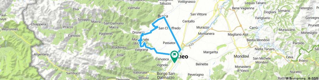 trip Cuneo-Cuneo / Bottonasco/Montemale/ Dronero/ Busca