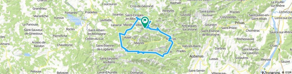 TransAlp2017 tour Ardeche etappe 1