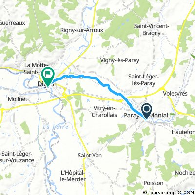 Paray-le-Monial nach Digoin und zurück
