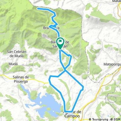 Barruelo - Aguilar - Matamorisca - Cillamayor - Vallejo - Barruelo - Brañosera - Alto del Golobar - Brañosera - Barruelo