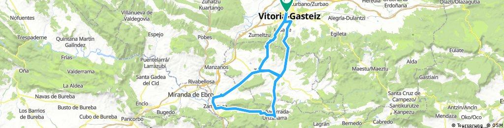 Vitoria-Pto Vitoria-Treviño-Berantevilla-Zambrana-Berganzo-PEÑACERRADA-Ventas-Treviño-Pto Zaldiaran-Vitoria